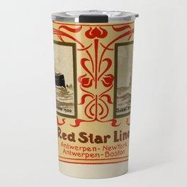 Red Star Line Antwerp New York ocean liners Travel Mug