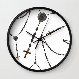Wooden Rosary I Wall Clock