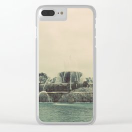 Buckingham Fountain Chicago Clear iPhone Case
