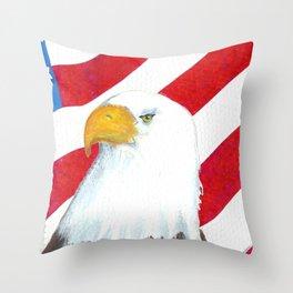 Eagle And Flag Throw Pillow