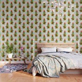Whimsical bromeliad Wallpaper
