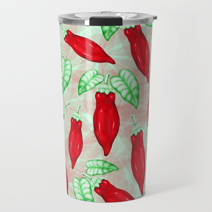 Red Hot Chilli Pepper Decorative Food Art Travel Mug