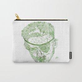 James Joyce - Hand-drawn Geometric Art Print - Green Gradient Carry-All Pouch