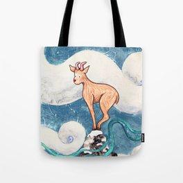 Winter Goat Tote Bag