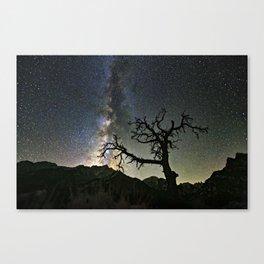 Star Tree Milky Way Canvas Print