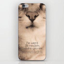 Wise Tabby Cat iPhone Skin