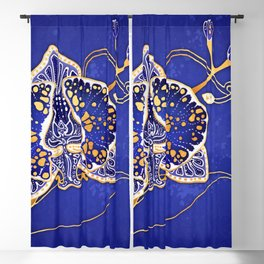 Egyptian Blue :: Orchid Blackout Curtain