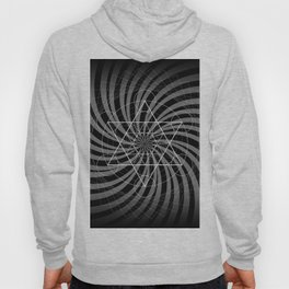 Metatron's Cube Grayscale Spiral of Light Hoody