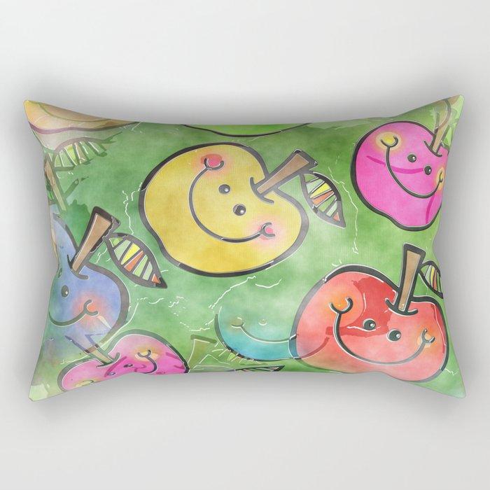 Apple Watercolor Rectangular Pillow