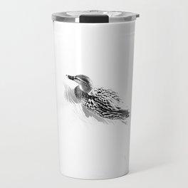 White and little black Travel Mug