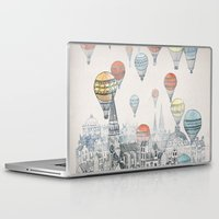 black widow Laptop & iPad Skins featuring Voyages over Edinburgh by David Fleck