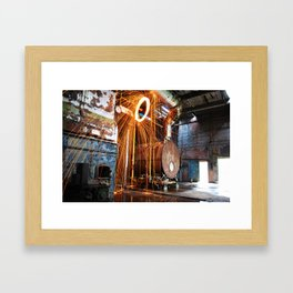 Pineville NC Textile Mill Spin Framed Art Print