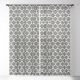 Bees Small Print Sheer Curtain