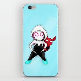 Spider-Gwen and Spider-Ham iPhone Skin