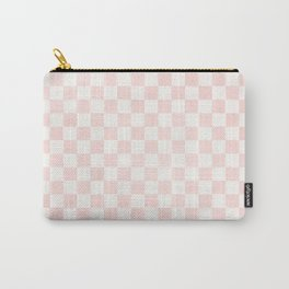 Pink Coral Checkers Carry-All Pouch