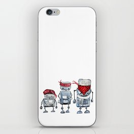 Robot gang iPhone Skin