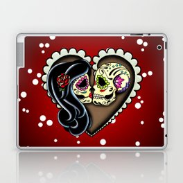Ashes - Day of the Dead Couple - Kissing Sugar Skull Lovers Laptop & iPad Skin