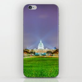 The Capitol Building At Night iPhone Skin