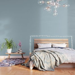 Soft Chalky Pastel Blue Solid Color Wallpaper