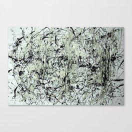 Abstract Jackson Pollock Painting Original Art Titled: Black vs White  Canvas Print