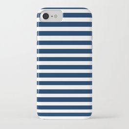 Navy-White ( Stripe Collection ) iPhone Case