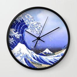 Surf's Up! The Great Wave Wall Clock