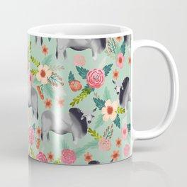Brahman Cattle cow farm floral homesteader farming cattle breeds Coffee Mug
