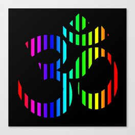 Techno Om Yoga Canvas Print