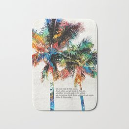 Colorful Palm Trees - Returning Home - By Sharon Cummings Bath Mat