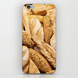 Bread baking rolls and croissants iPhone Skin