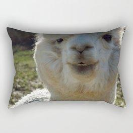Smiling Llama Rectangular Pillow