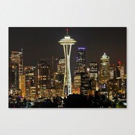 Seattle Space Needle & Cityscape Canvas Print