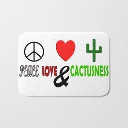 Peace, Love & Cactusness Bath Mat