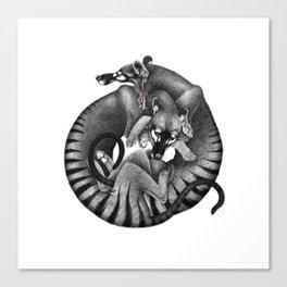 Thylacines Canvas Print