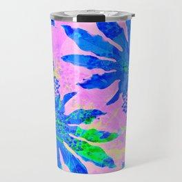Tropical Adventure - Neon Blue, Pink and Green #tropical #homedecor Travel Mug