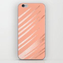 Sweet Life Swipes Peach Coral Shimmer iPhone Skin