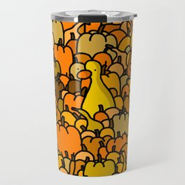 Duck in a Pumpkin Patch Travel Mug