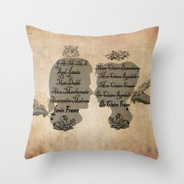 All the names of the Frasers Throw Pillow