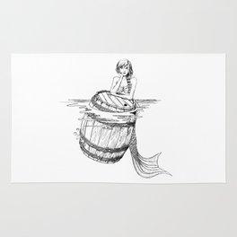Mermaid and barrel Rug