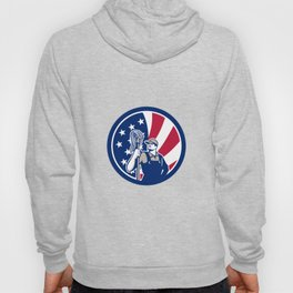 American Industrial Cleaner USA Flag Icon Hoody