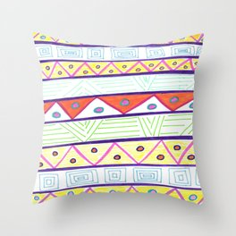 Aztec Print Throw Pillow