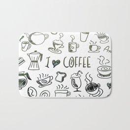 I Love Coffee Bath Mat