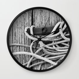 Wood Lines Wall Clock