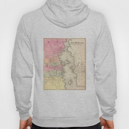 Vintage Map of New Bedford MA (1871) Hoody
