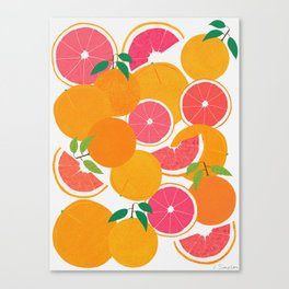 Grapefruit Harvest Canvas Print