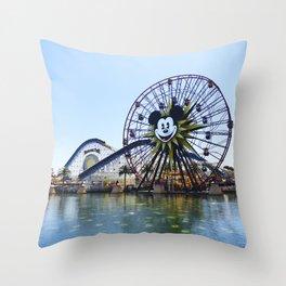 Paradise Pier - Mickey Ferris Wheel (Daytime no.2) Throw Pillow