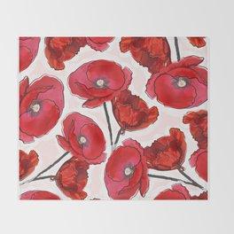 the poppy Throw Blanket