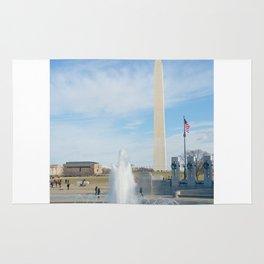 washington monument photography art Rug