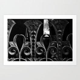 Iron and death Art Print