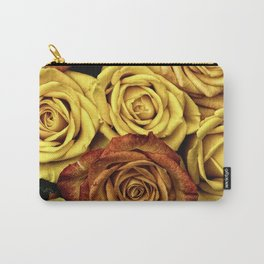 Golden Yellow Roses Pattern (Color) Carry-All Pouch